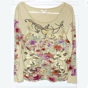 Sundance embroidered knit top